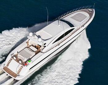 Ibiza Luxury charter Mangusta 108