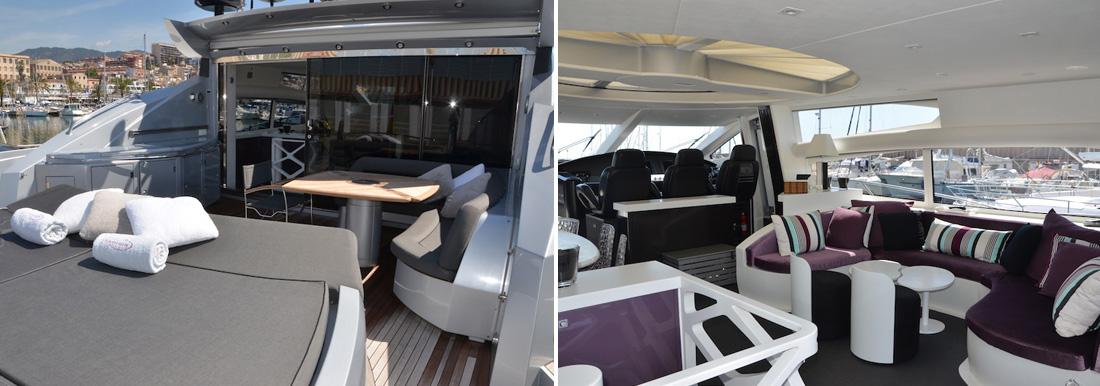 Ibiza yacht charter Sunseeker Predator 82