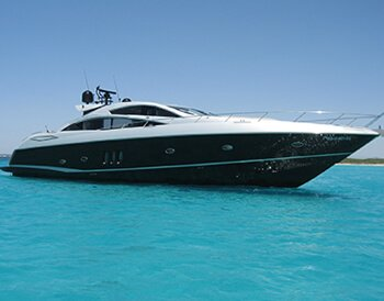 Luxury yacht charter on Ibiza Sunseeker Predator 82