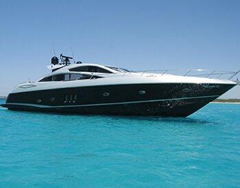 Luxury yacht charter on Ibiza Sunseeker Predator 82