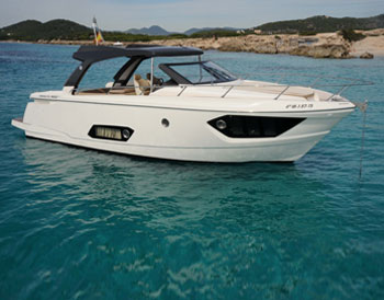 Ibiza boat charter Absolute 40