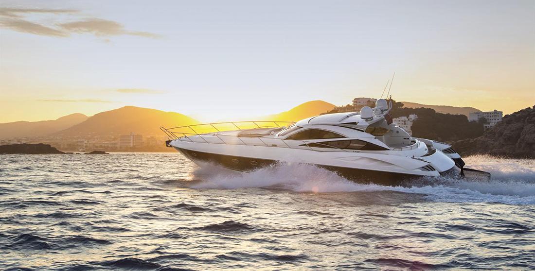 Ibiza yacht charter Sunseeker Predator 68