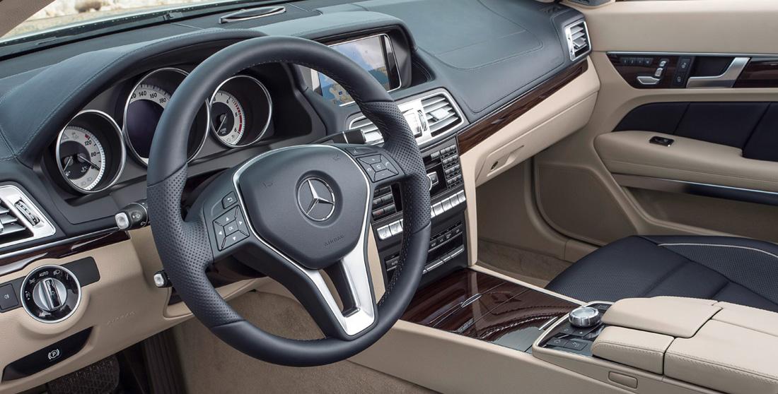 Ibiza car rental Mercedes E Cabrio