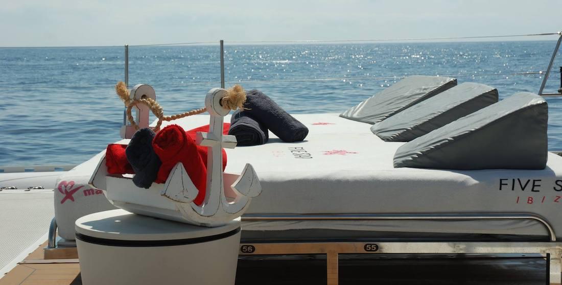 Ibiza sailboat charter Five star
